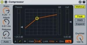 Post production audio : compresseur