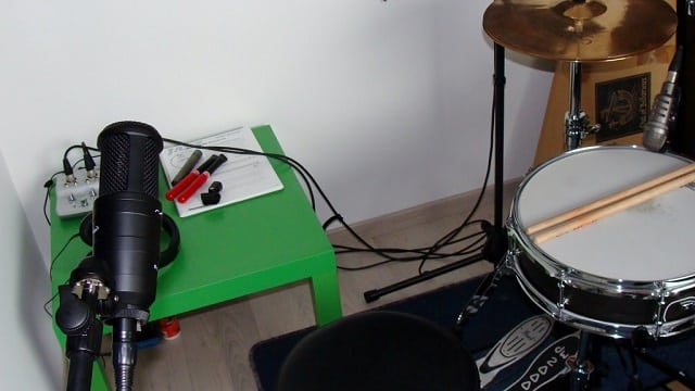 enregistrer la batterie - micro épaule
