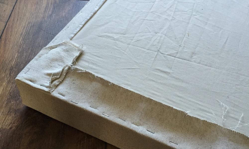 Agrafer le tissu toile