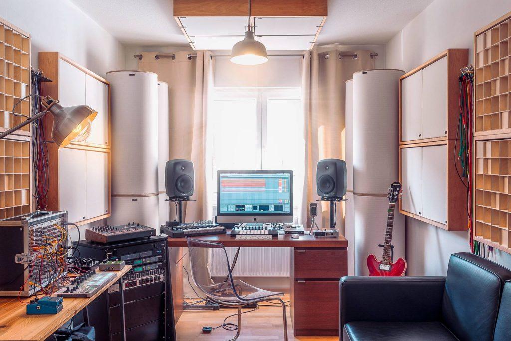 Exemple de traitement acoustique dans un home studio