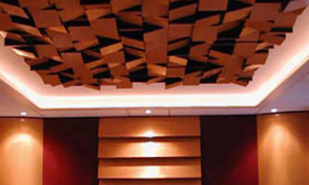 traitement acoustique plafond par diffusion