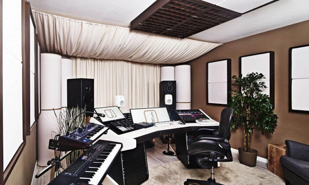 traitement acoustique plafond regie mixage