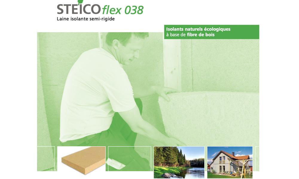 un autre produit de chez STEICO sous forme de panneau acoustique en fibre de bois