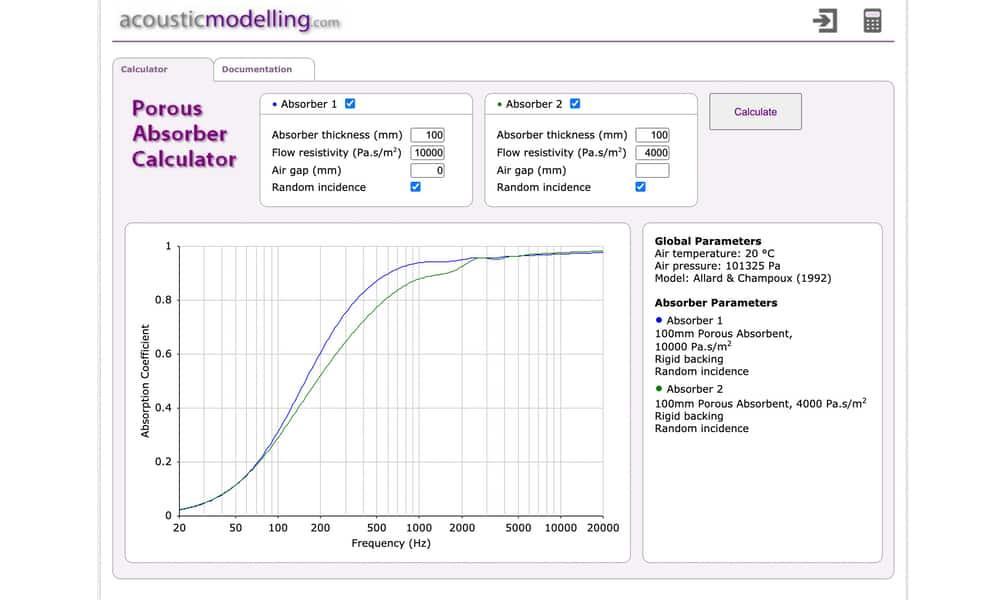 Le site de modélisation des panneaux : acousticmodelling.com